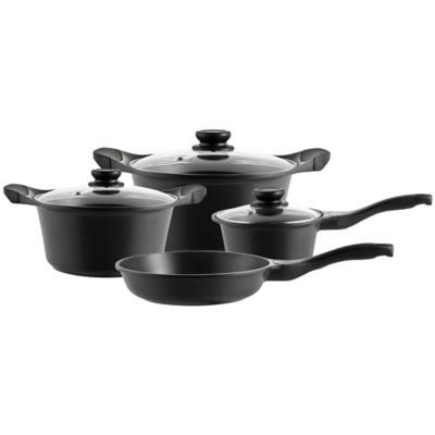Batería de Cocina 7 Piezas Aluminio Negro