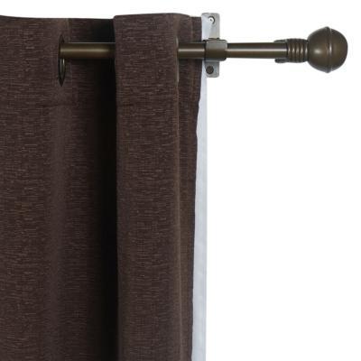 Combo cortina + velo 145x220cm Camila café