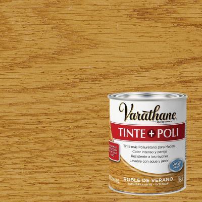 Varathane tinte + poliuretano base agua roble 0,9l