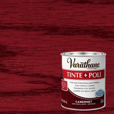 Varathane tinte + poliuretano base agua  caber 0,9l