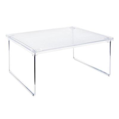 Repisa para gabinetes 25,4x2,54x30,48 cm acrílico transparente