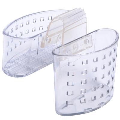 Organizador de lavaplatos doble 17,2x6,6x14,7 cm transparente