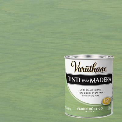 Varathane tinte verde rústico  1/4 gl