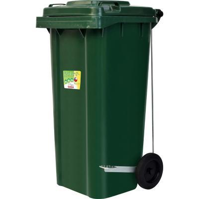 Contenedor de Basura Con Tapa 120 Lts Verde