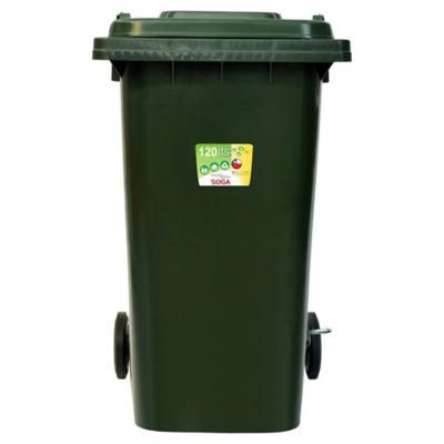 Contenedor para Reciclaje Con Pedal 120 Lts Verde