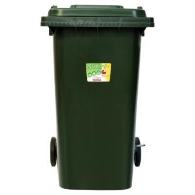 Contenedor para Reciclaje Con Pedal 240 Lts Verde