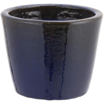 Macetero de cerámica 23x21 cm azul