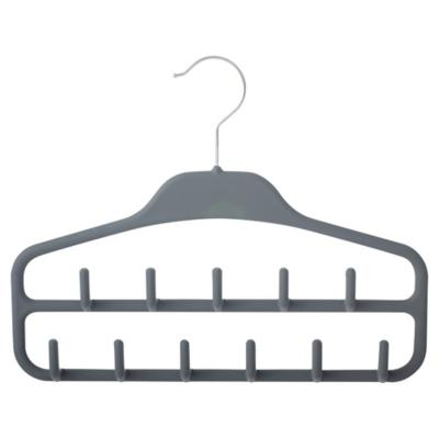 Colgador para cinturones antideslizante plástico gris