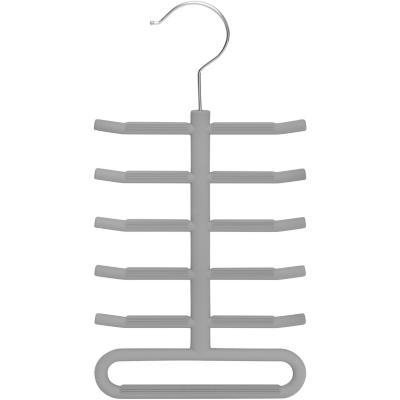 Colgador de corbatas plástico Gris