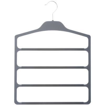 Colgador de blusa y camisa antideslizante plástico Gris
