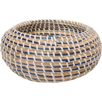 Canasto decorativo tejido 19x10 cm natural