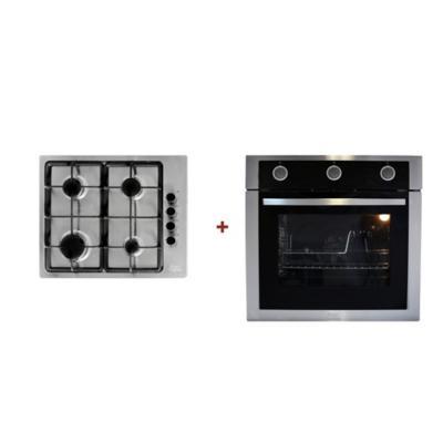 Combo encimera 4 quemadores + horno empotrable 2250 W