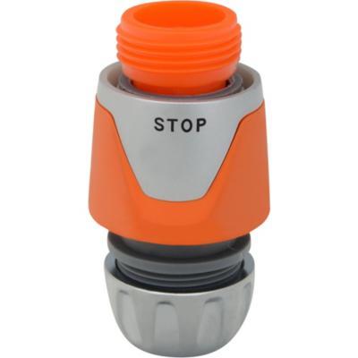 """Conector para manguera 1/2"""" de plástico con stop"""