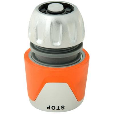 """Conector para manguera 3/4"""" de plástico con stop"""