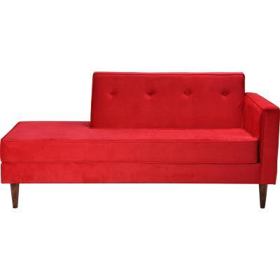 Sofá 3 cuerpos 180x80x85 cm rojo