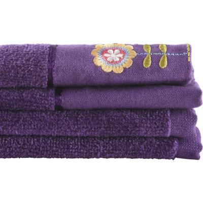 Juego de toallas 380 gr 30x50 cm 2 unidades Morada