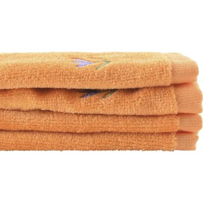 Juego de toallas 380 gr 30x50 cm 2 unidades naranjo