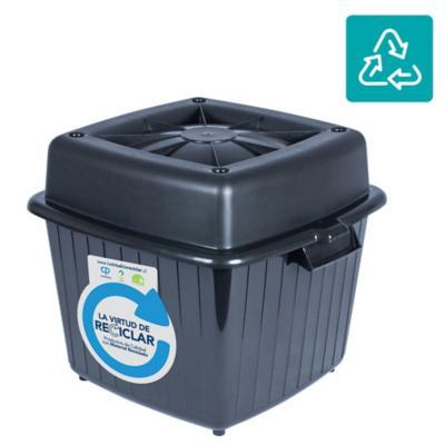 Contenedor para alimento 60 litros gris