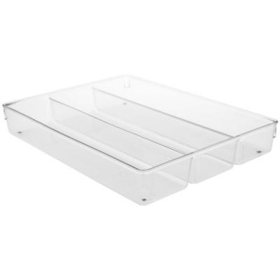 Porta servicios 41,2x45,7x52 cm plástico transparente
