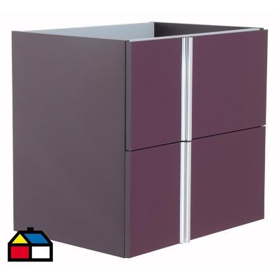 Mueble vanitorio 59,5x56,5x44,3 cm Berenjena