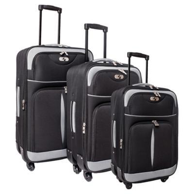 Set de maletas spinner 3 unidades Negro