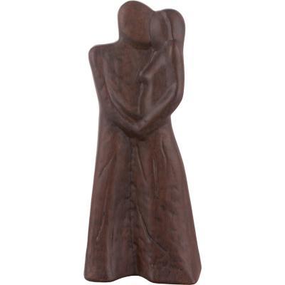 Figura decorativa 33x7x14 cm cerámica café