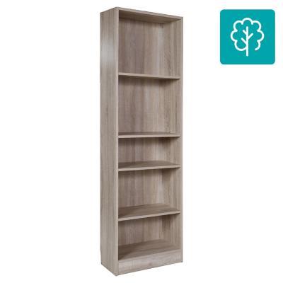 Librero 4 repisas 204x79x27 cm