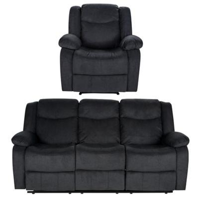 Juego de living sofá 3 cuerpos + sillón gris