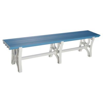 Banca plástica 43x180x36 cm PVC azul