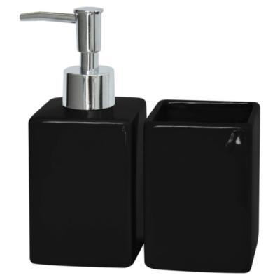 Kit de accesorios para baño 2 piezas negro