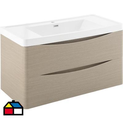 Mueble vanitorio 80x50x48 cm Gris