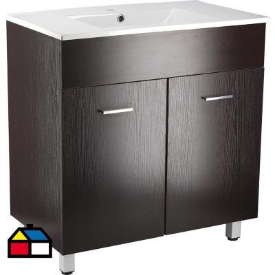 Mueble vanitorio 85x80x46 cm wengué