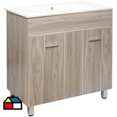 Mueble vanitorio 85x80x46 cm gris