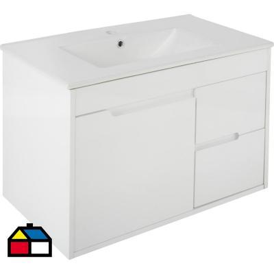 Mueble vanitorio 80x50x46 cm Blanco