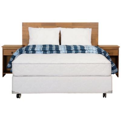 Box Spring Beat 2 plazas BD + muebles + 2 almohadas + plumón