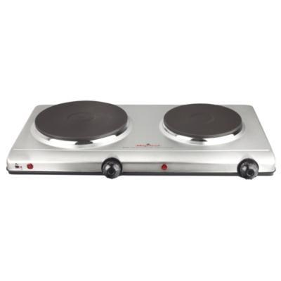 Cocina eléctrica 2 quemadores silver