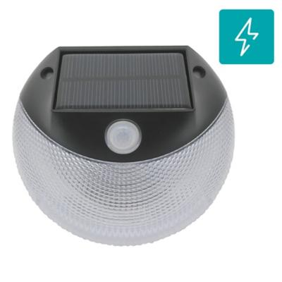 Apliqué luz solar con sensor plástico negro