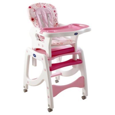 Silla de comer para bebé 100x61x50 cm rosado