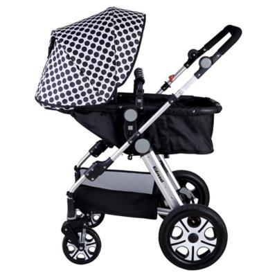Coche para bebé 113x60x80 cm negro