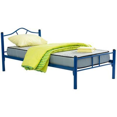 Cama metálica Monte 1,5 plazas parrilla de madera con colchón de espuma y textil