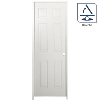 Puerta lista 6 paneles 70X200 derecha