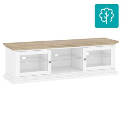 Rack de TV 50 149x42x51 blanco y ak