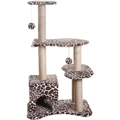 Gimnasio rascador para gato 3 nivel animal print