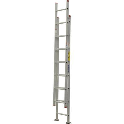 Escala telescópica aluminio 16 Peldaños  4.00 m  Resistencia 90 kilos