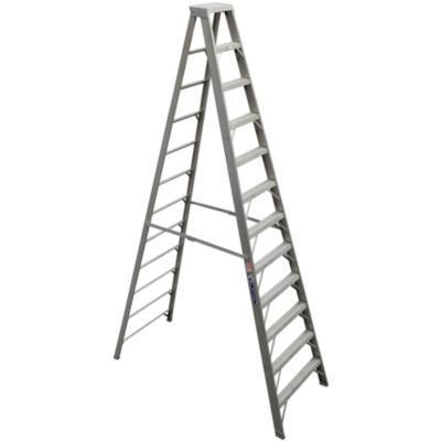 Escala tijera aluminio 12 peldaños 3.65 m Resistencia 170 kg
