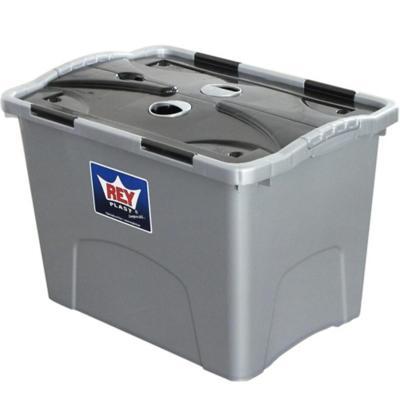 Caja organizadora 31 litros 32,7x32,4x46,5 cm gris