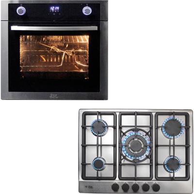 Kit horno eléctrico + encimera a gas natural 5 quemadores
