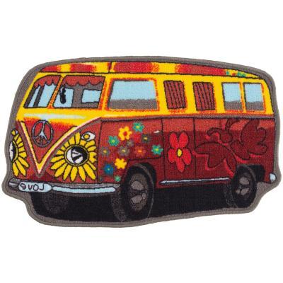 Bajada de cama bus 50x80 cm multicolor