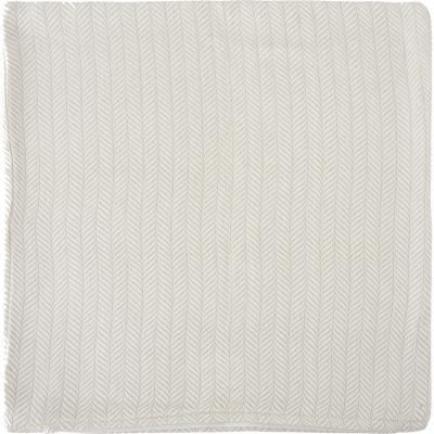 Funda para cojín algodón 45x45 cm beige