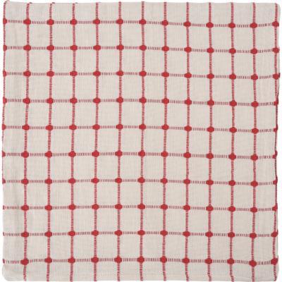 Funda para cojín algodón 45x45 cm rojo
